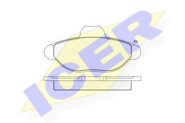 Комплект тормозных колодок, дисковый тормоз  арт. 180923