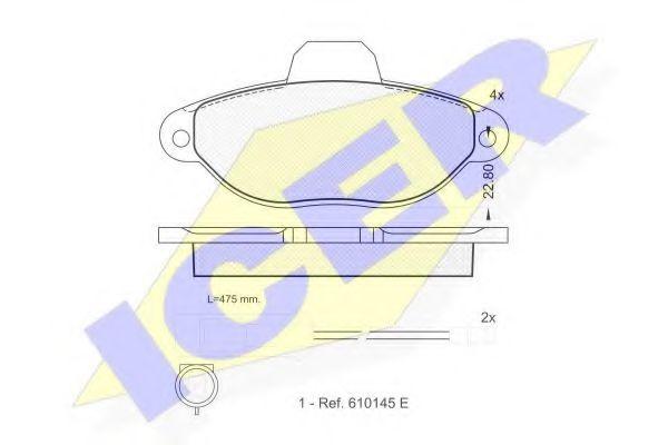 Комплект тормозных колодок, дисковый тормоз  арт. 180924