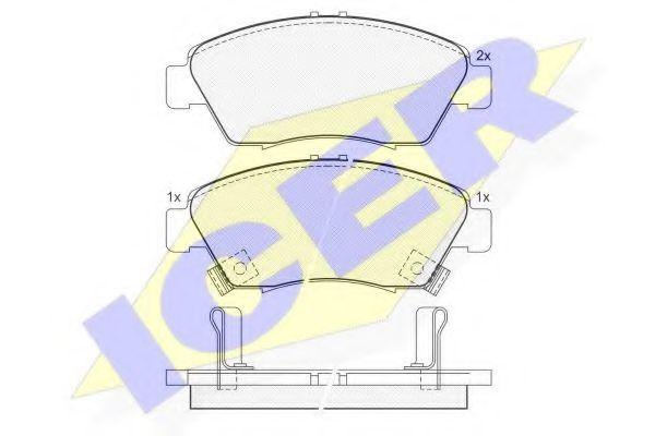 Комплект тормозных колодок, дисковый тормоз  арт. 180959