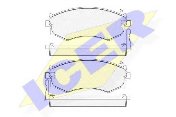 Комплект тормозных колодок, дисковый тормоз  арт. 180986