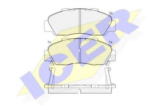 Комплект тормозных колодок, дисковый тормоз  арт. 181019