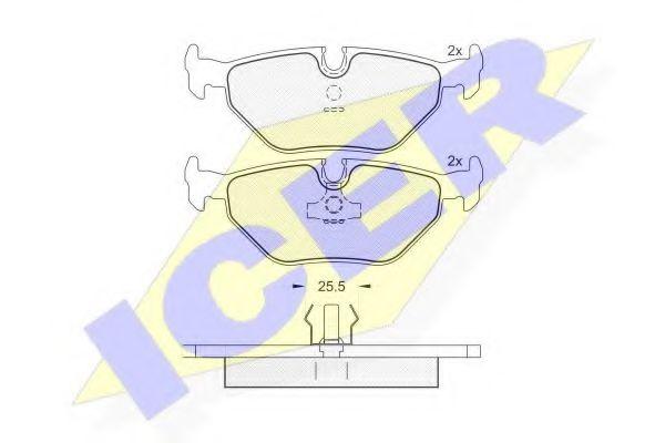 Комплект тормозных колодок, дисковый тормоз  арт. 181051