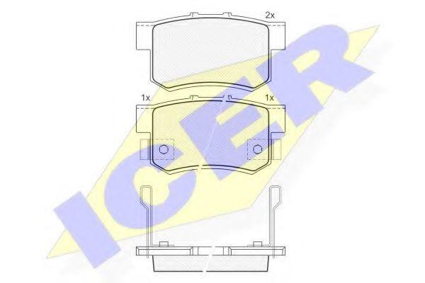 Комплект тормозных колодок, дисковый тормоз  арт. 181187