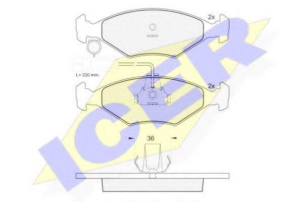 Комплект тормозных колодок, дисковый тормоз  арт. 181226