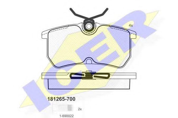 Колодки тормозные  арт. 181265700