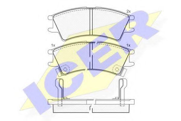 Комплект тормозных колодок, дисковый тормоз  арт. 181268
