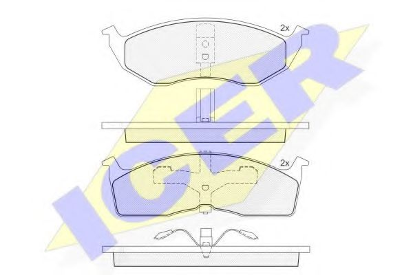 Комплект тормозных колодок, дисковый тормоз  арт. 181436
