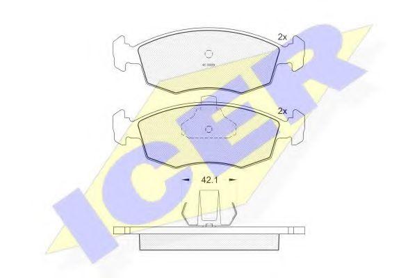 Комплект тормозных колодок, дисковый тормоз  арт. 181441
