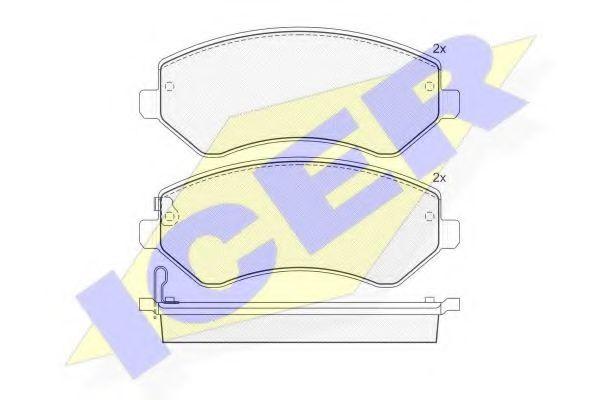 Комплект тормозных колодок, дисковый тормоз  арт. 181512