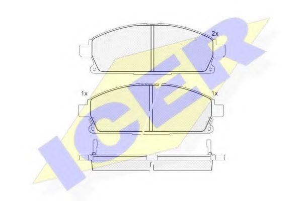 Комплект тормозных колодок, дисковый тормоз  арт. 181521