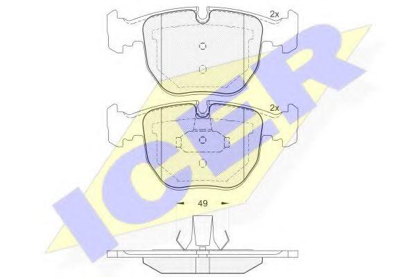 Колодки тормозные (передние) BMW 5 (E39)/7 (E38) 94- (Ate - Teves)  арт. 181530