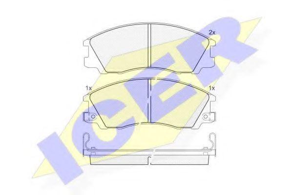 Комплект тормозных колодок, дисковый тормоз  арт. 181539
