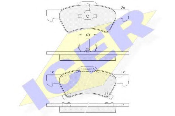 Комплект тормозных колодок, дисковый тормоз  арт. 181544
