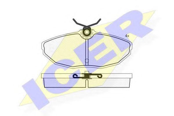 Комплект тормозных колодок, дисковый тормоз  арт. 181562
