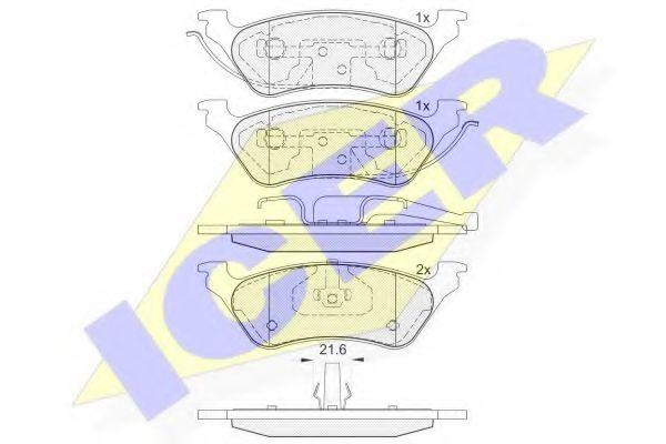 Комплект тормозных колодок, дисковый тормоз  арт. 181564