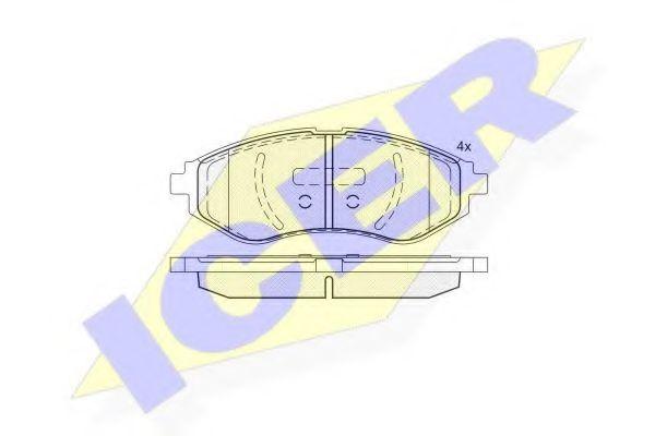 Колодки тормозные (передние) Chevrolet Aveo 1.2-1.6 03- (Akebono)  арт. 181566
