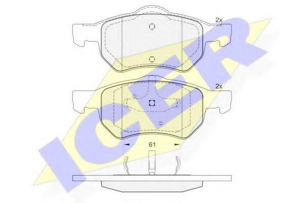 Комплект тормозных колодок, дисковый тормоз  арт. 181586