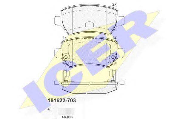 Колодки тормозные (задние) Opel Combo 01- (TRW)  арт. 181622703