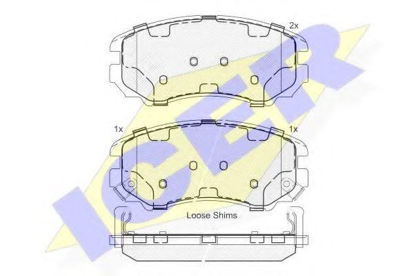 Комплект тормозных колодок, дисковый тормоз  арт. 181644
