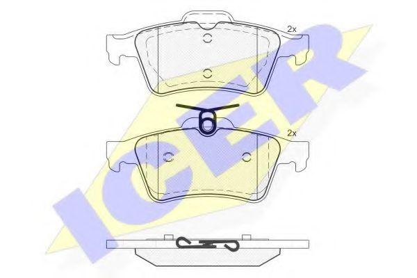 Комплект тормозных колодок, дисковый тормоз  арт. 181651