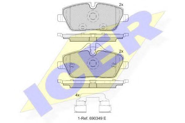 Тормозные колодки дисковые  арт. 181662200