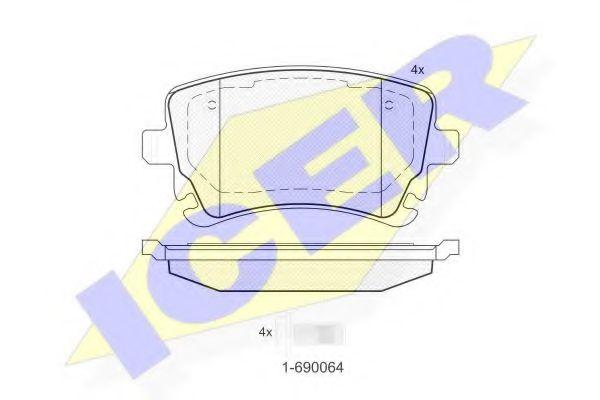 Колодки тормозные (задние) VW T5 03- (Lucas - Girling)  арт. 181674204