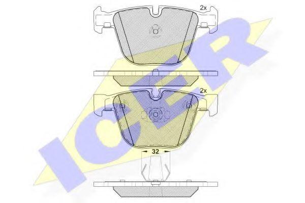 Комплект тормозных колодок, дисковый тормоз  арт. 181687