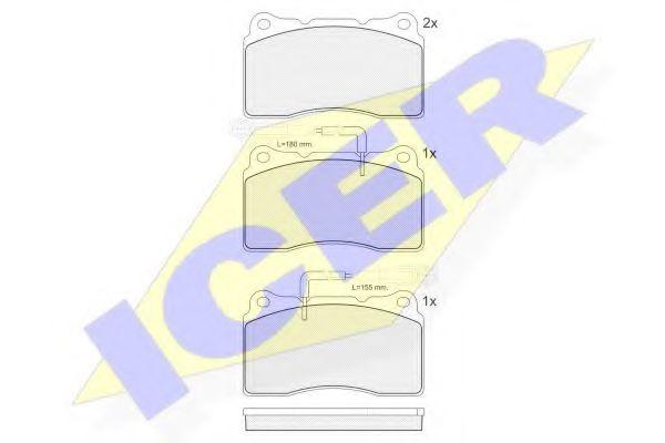 Комплект тормозных колодок, дисковый тормоз  арт. 181730