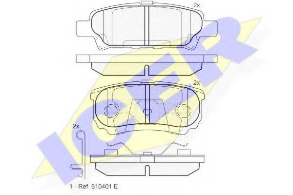 Колодки тормозные (задние) Mitsubishi Outlander/Lancer 1.3-2.4 01- (Akebono)  арт. 181746