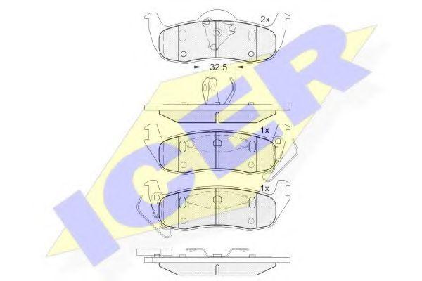 Комплект тормозных колодок, дисковый тормоз  арт. 181766