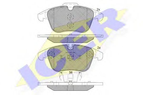 Тормозные колодки дисковые  арт. 181775203