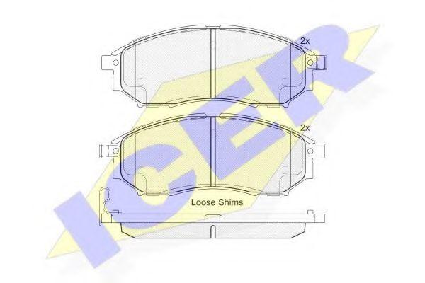 Колодки тормозные (передние) Renault Koleos 2.0/2.5 08-/Infiniti FX 3.5 02- (Sumitomo)  арт. 181876