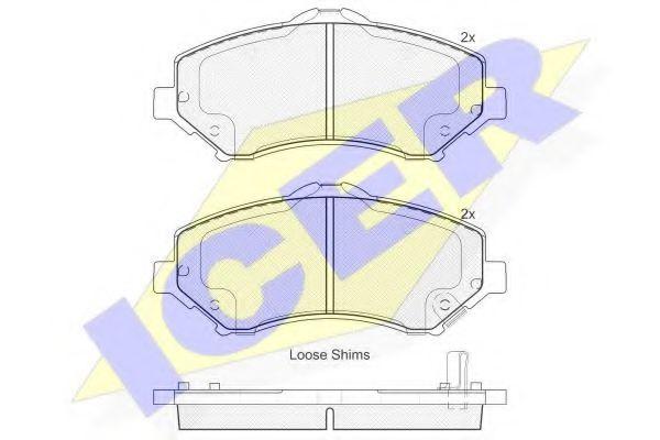 Комплект тормозных колодок, дисковый тормоз  арт. 181908
