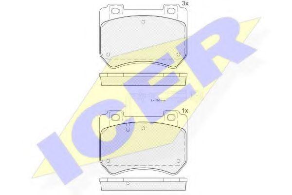 Комплект тормозных колодок, дисковый тормоз  арт. 181932