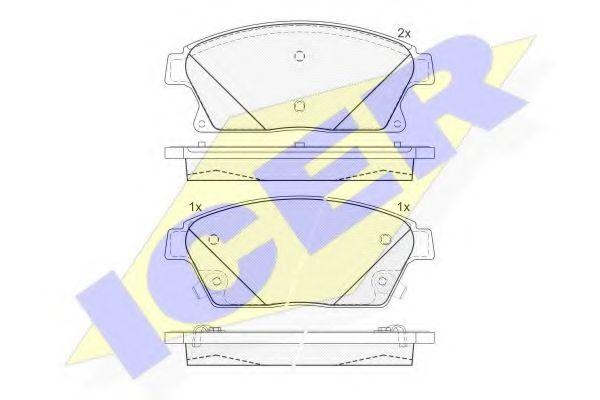 Тормозные колодки дисковые  арт. 181939202