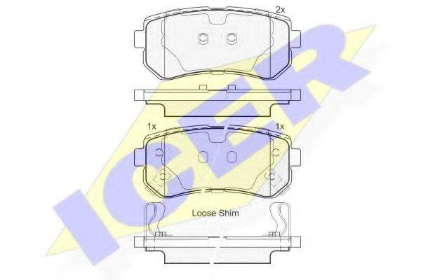 Комплект тормозных колодок, дисковый тормоз  арт. 181948