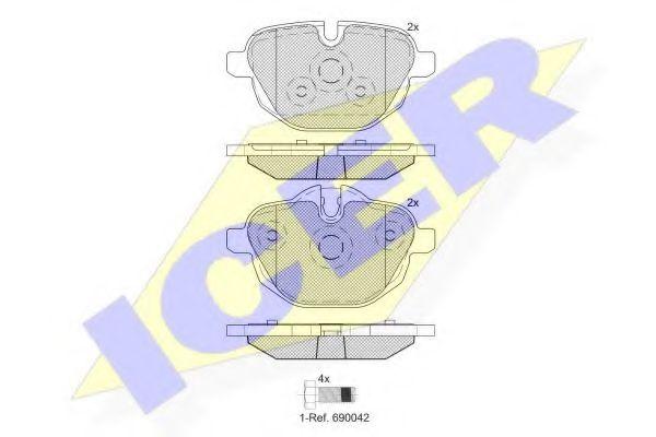 Колодки тормозные  арт. 182004