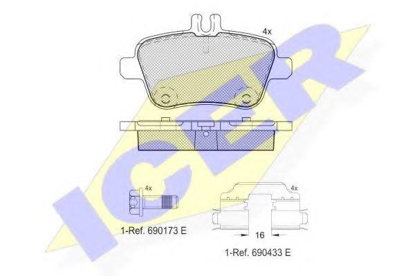 Тормозные колодки дисковые  арт. 182039067