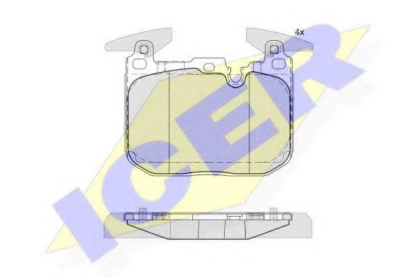 Тормозные колодки дисковые  арт. 182093200