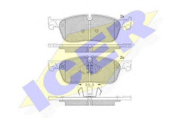 Тормозные колодки дисковые  арт. 182236203