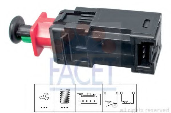 1 810 208 Выключатель стоп-сигнала  арт. 71208