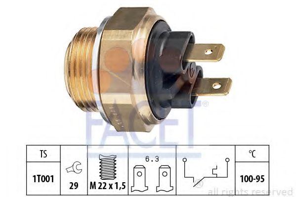 Термодатчик включения ветилятора  арт. 75019