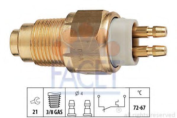 1 850 125 Датчик включения вентилятора FACET 75125
