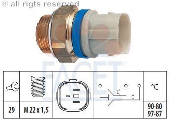 Датчик переулючения вентилятора [95°/84°-102°/98°C] GOLF/VENTO/POLO 3-х контакт. FACET 75650