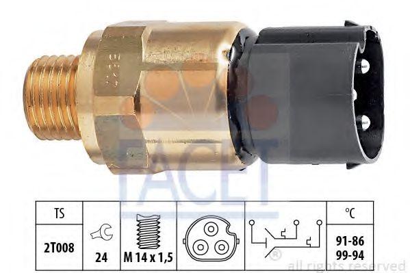 Термодатчик включения ветилятора  арт. 75617
