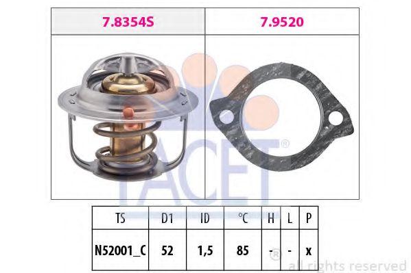 Термостат, охлаждающая жидкость  арт. 78354