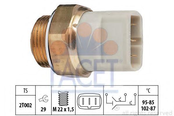 Термовыключатель, вентилятор радиатора VW, AUDI (пр-во Facet)                                        FACET 75605