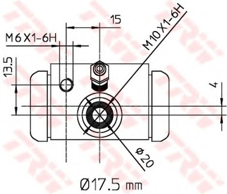 BWC243  TRW - Циліндр гальмівний робочий  арт. BWC243
