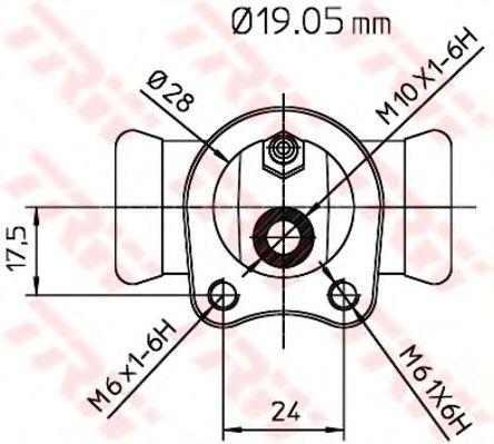 BWD119  TRW - Циліндр гальмівний робочий  арт. BWD119