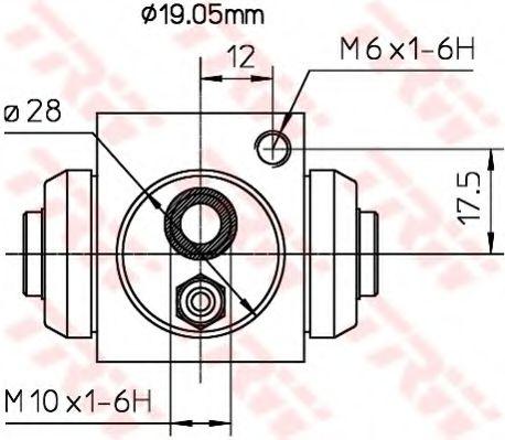 BWD119A  TRW - Циліндр гальмівний робочий  арт. BWD119A